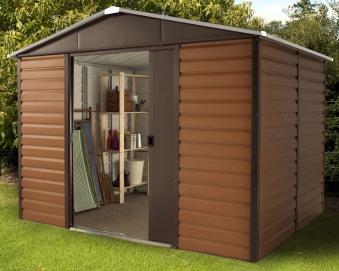 yardmaster metallger tehaus konstanz 108 braun 303x237cm bodenrahmen bei. Black Bedroom Furniture Sets. Home Design Ideas