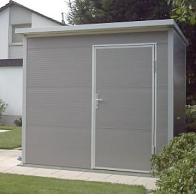 NWS Gartenhaus Stahl wartungsfrei nie wieder streichen 150x250cm PD Bild 1