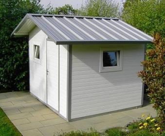 NWS Gartenhaus Stahl wartungsfrei nie wieder streichen 250x250cm SD Bild 1