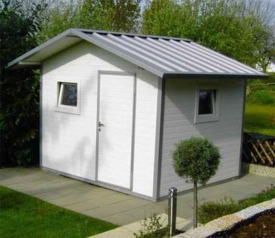 NWS Gartenhaus Stahl wartungsfrei nie wieder streichen 250x400cm SD Bild 1
