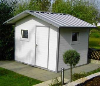NWS Gartenhaus Stahl wartungsfrei nie wieder streichen 300x150cm SD Bild 1
