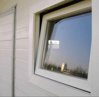 Fenster Glas zu NWS Gartenhaus 80 x 70 cm