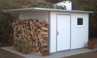 NWS Gartenhaus Stahl wartungsfrei nie wieder streichen 500x150cm PD Bild 1