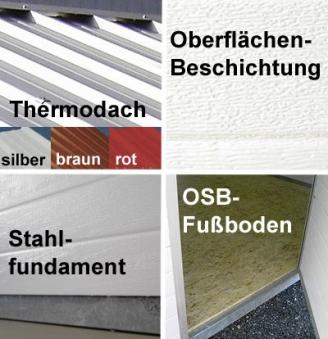 NWS Gartenhaus Stahl wartungsfrei nie wieder streichen 500x150cm PD Bild 2