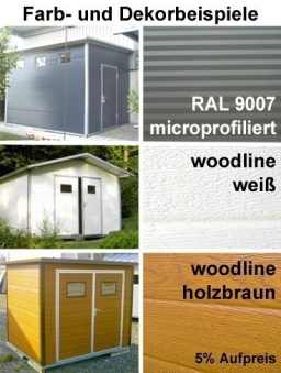 NWS Gartenhaus Stahl wartungsfrei nie wieder streichen 500x150cm PD Bild 4