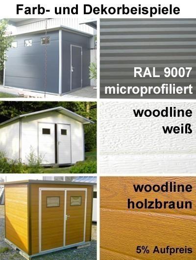 NWS Gartenhaus Stahl wartungsfrei nie wieder streichen 500x150cm SD Bild 4