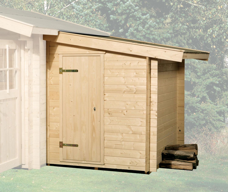 Anbauschuppen zu Weka Gartenhaus 28 - 45 mm natur 150x250cm Bild 1