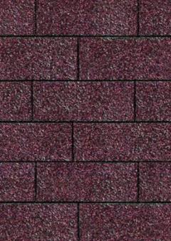Bitumen Dachschindeln Karibu rechteckig dunkelrot 3m² Bild 1
