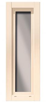 Dreh- und Kippfenster f. Karibu Gartenhaus 28mm 60x170cm elfenbeinweiß Bild 1