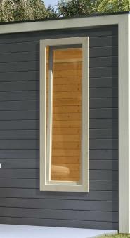 Dreh- und Kippfenster f. Karibu Gartenhaus 28mm 60x170cm elfenbeinweiß Bild 2