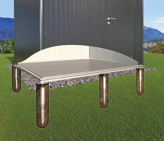 Erdschrauben Fundament für Biohort Gartenhaus Europa 5 und 6 Bild 1
