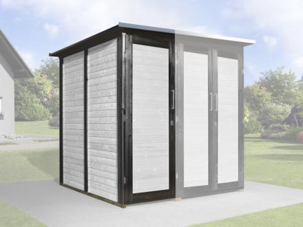 Erweiterungsbausatz für WEKA Gerätehaus GartenQ 2 Türen anthrazit Bild 1