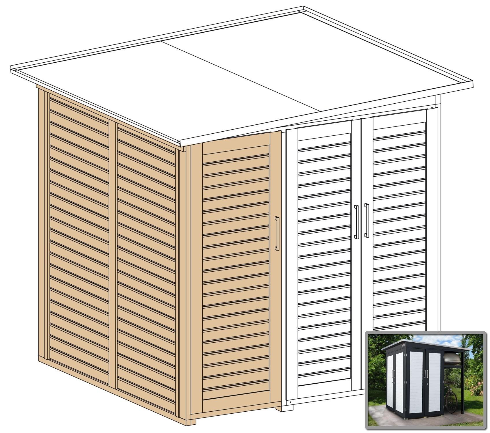 Erweiterungsbausatz für WEKA Gerätehaus GartenQ 2 Türen anthrazit Bild 2
