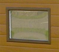 Fenster Kunststoffglas zu NWS Gartenhaus 49x32 cm weiß oder braun Bild 1