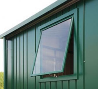 Fensterelement für Biohort Gerätehaus Europa silber-metallic Bild 1