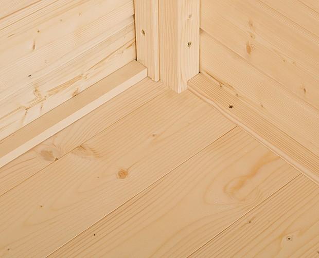 Fußboden 19mm natur für Weka Gartenhaus 240x205cm Bild 1