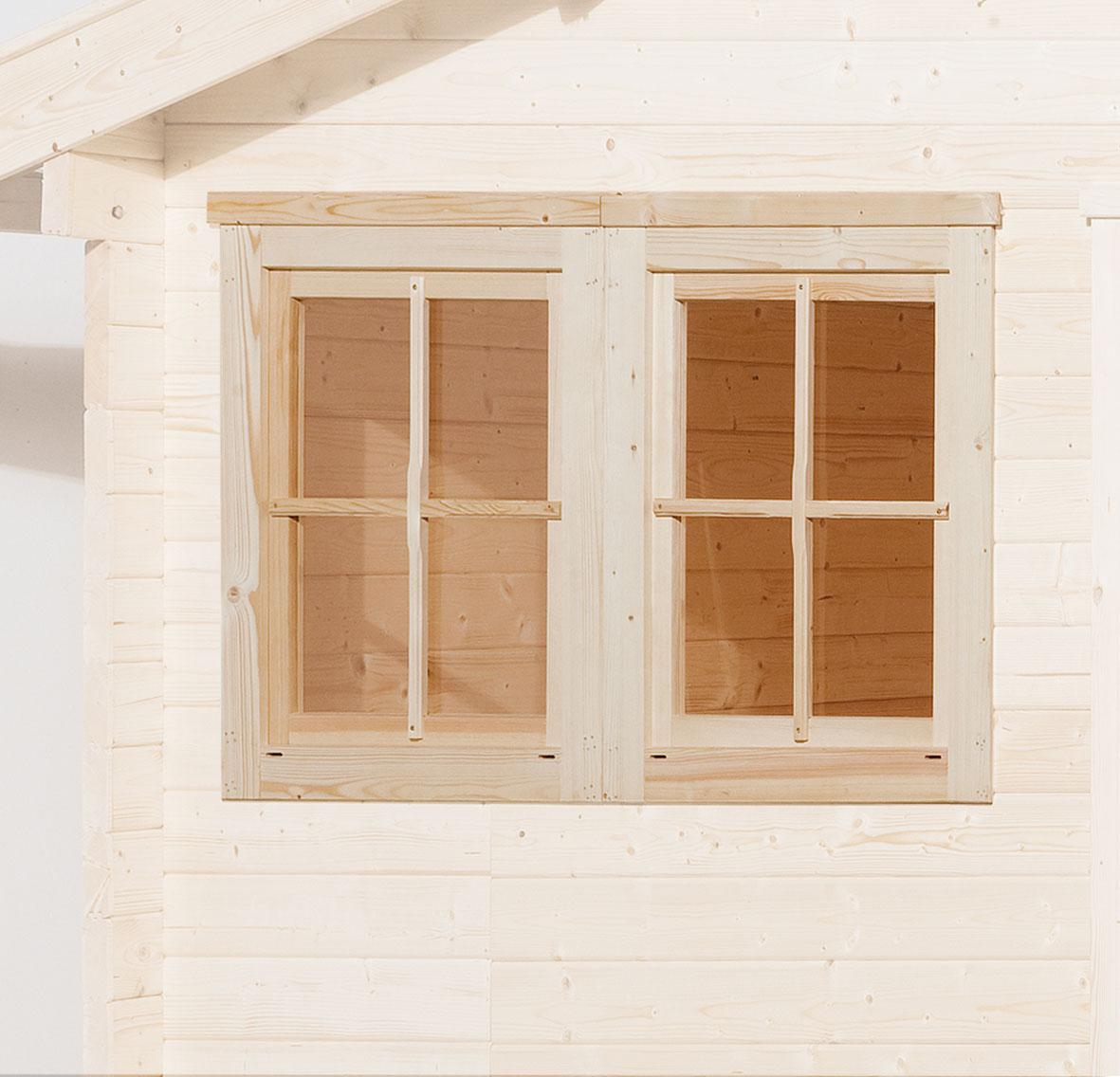 Gartenhausfenster für Wandstärke 21 - 28 mm 138x79cm Bild 1