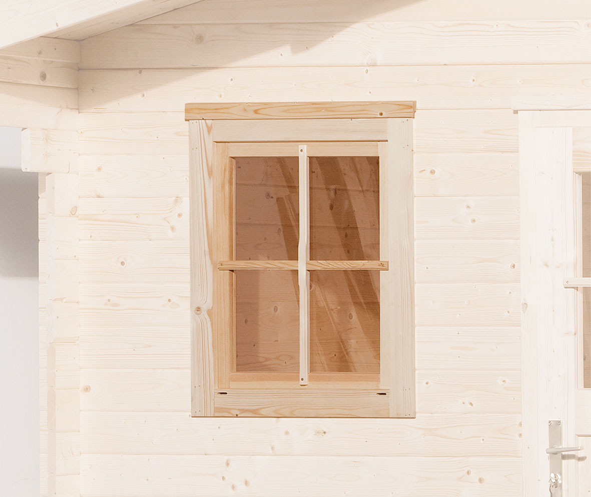 Gartenhausfenster für Wandstärke 21 - 28 mm natur 69x79cm Bild 1