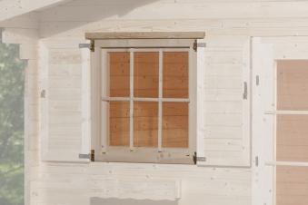 Gartenhausfenster für Wandstärke 45 mm 91x91cm Bild 1