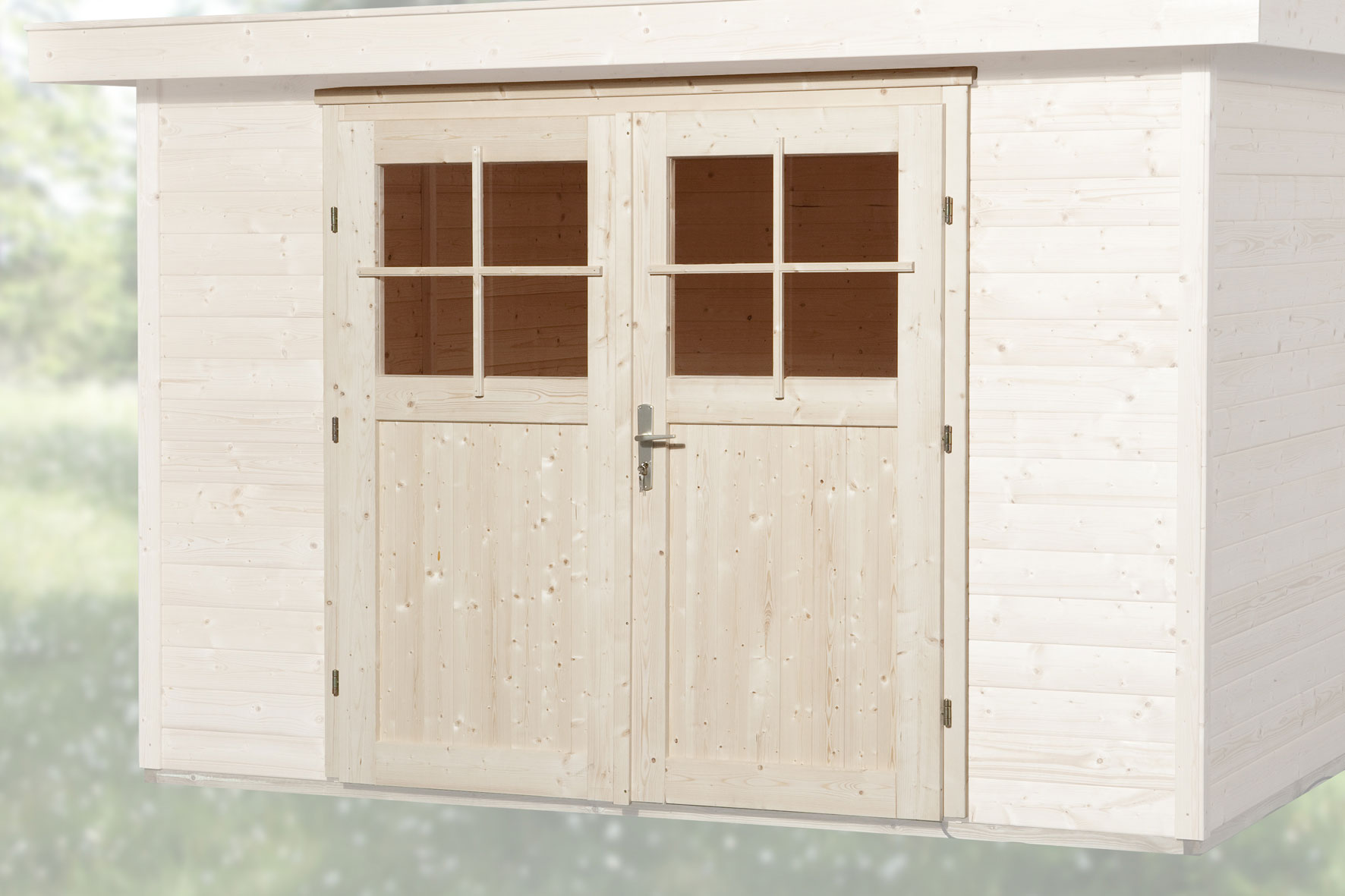 Gartenhaustür für Wandstärke 21 - 28 mm 182x183cm Bild 1