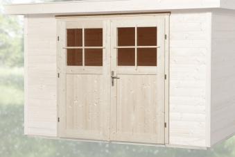 Gartenhaustür für Wandstärke 45 mm 173x165cm Bild 1