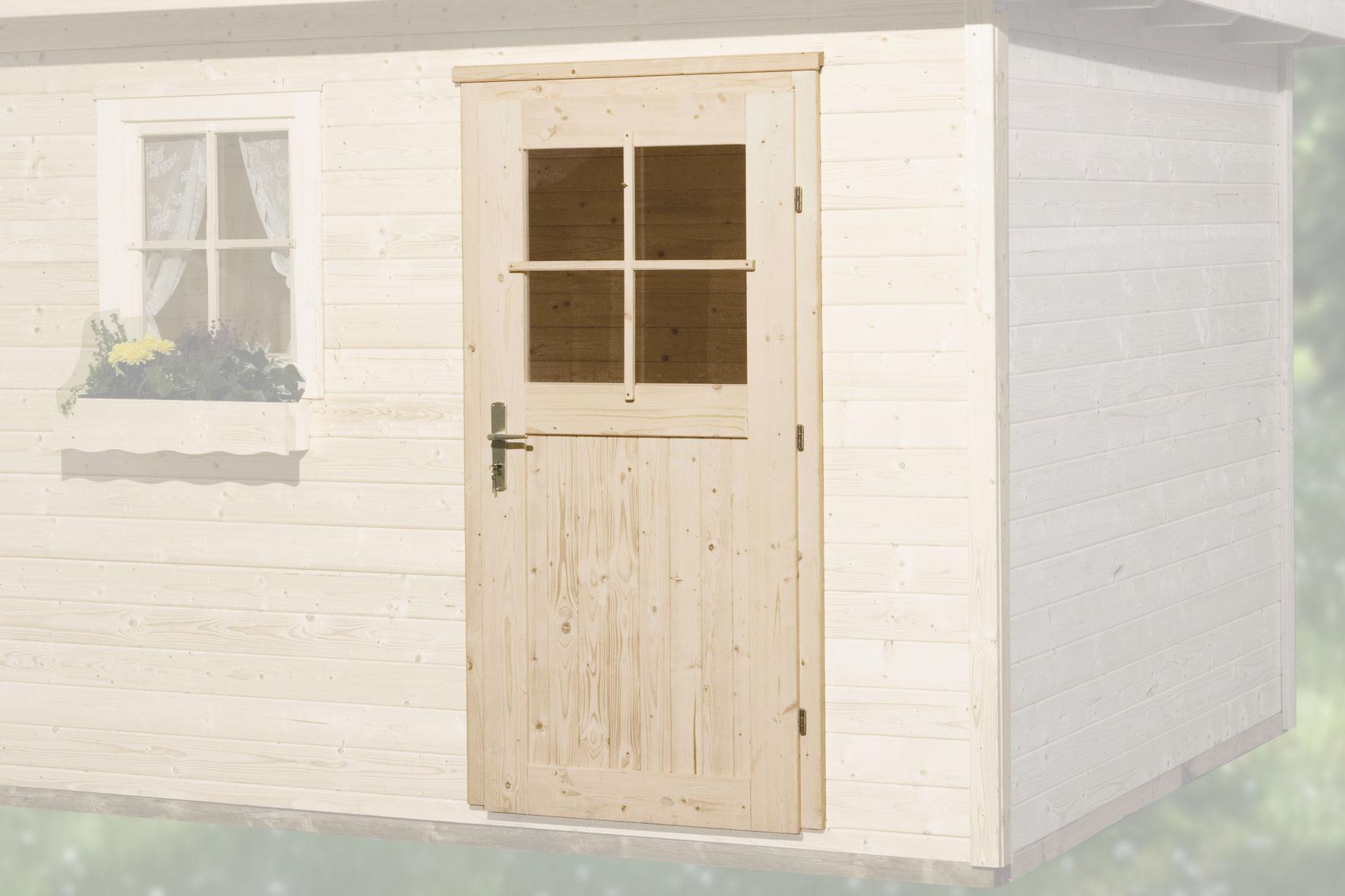 Gartenhaustür für Wandstärke 45 mm 182x97cm Bild 1