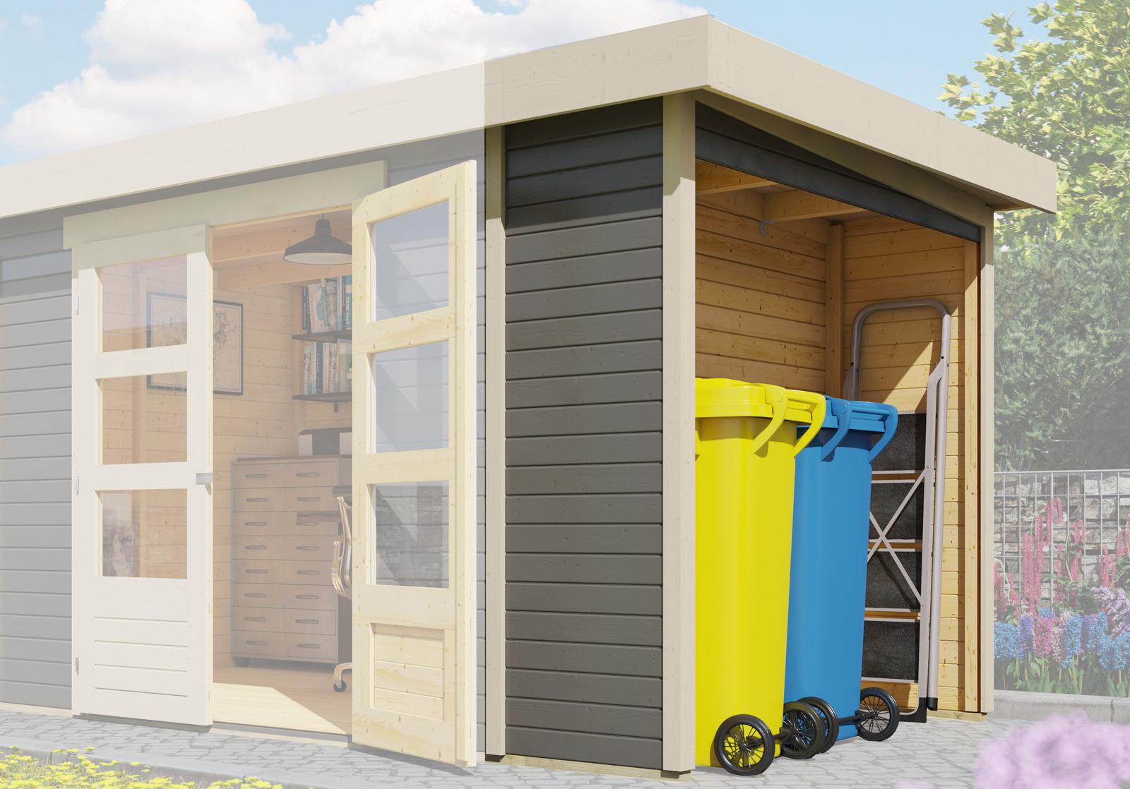 Schleppdach für Woodfeeling Gartenhaus Askola terragrau 68x217x211cm ...