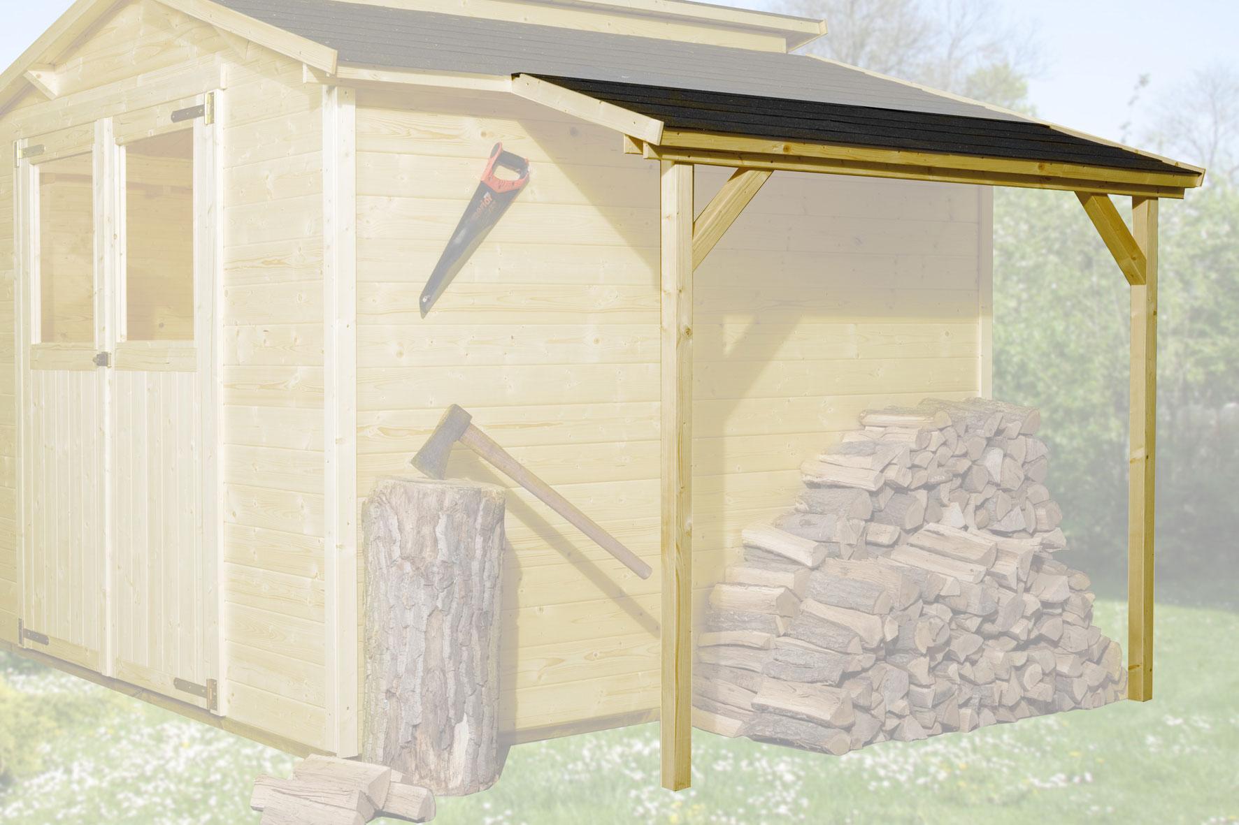 Schleppdach zu Weka Gartenhaus 19 - 21 mm 80x200cm lasiert Bild 1