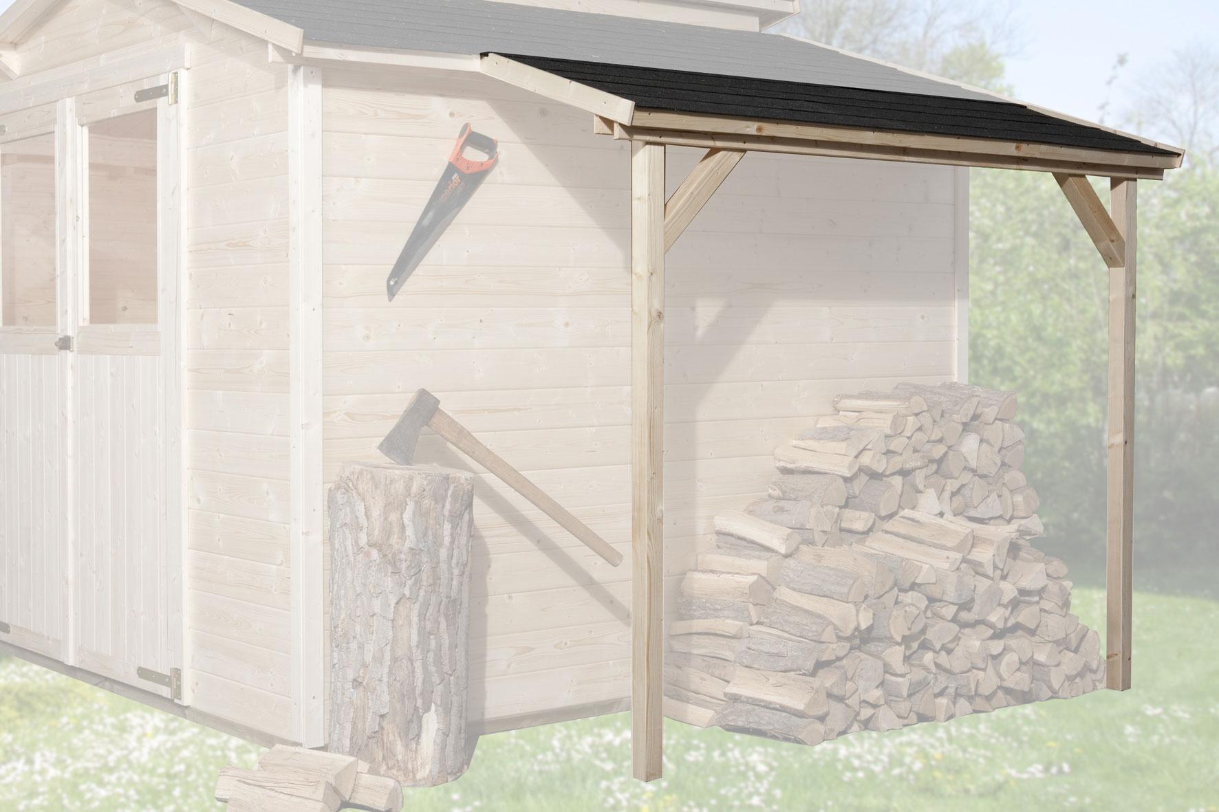 Schleppdach zu Weka Gartenhaus 19 -21 mm natur 80x200cm Bild 1