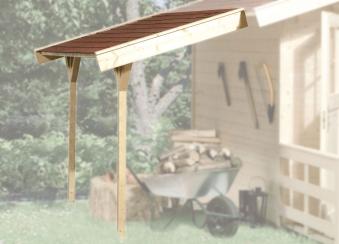 Schleppdach zu Weka Gartenhaus 28 - 45 mm natur 120x330cm Bild 1