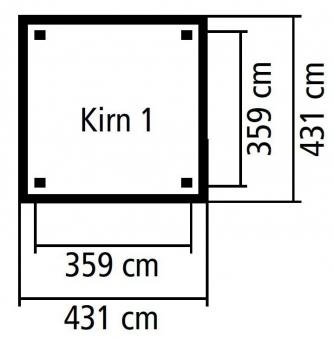 Carport / Pavillon Karibu Classic Kirn 1 Walmdach 431x431cm Bild 2