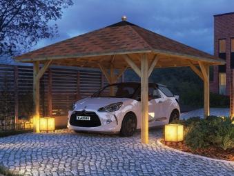 Carport / Pavillon Karibu Classic Kirn 1 Walmdach 431x431cm Bild 3