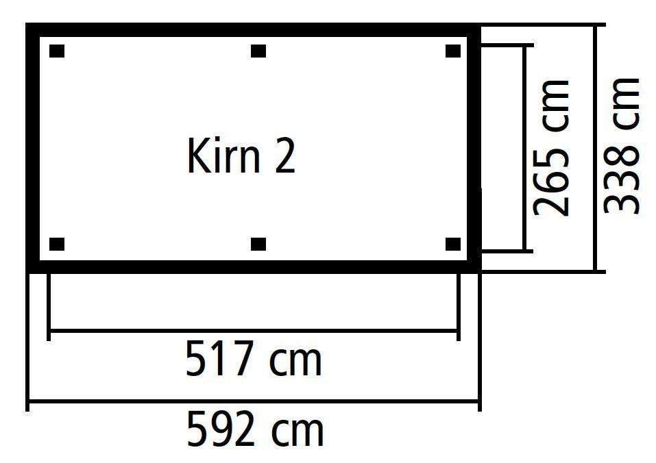 Carport / Pavillon Karibu Classic Kirn 2 Walmdach 592x338cm Bild 2