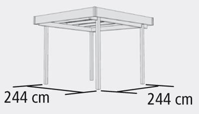 Flachdach pavillon selber bauen