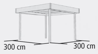 karibu flachdach pavillon 2 kdi 337x343cm bei. Black Bedroom Furniture Sets. Home Design Ideas
