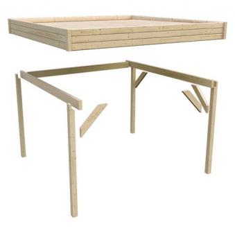 karibu flachdach pavillon 3 kdi 397x403cm bei. Black Bedroom Furniture Sets. Home Design Ideas