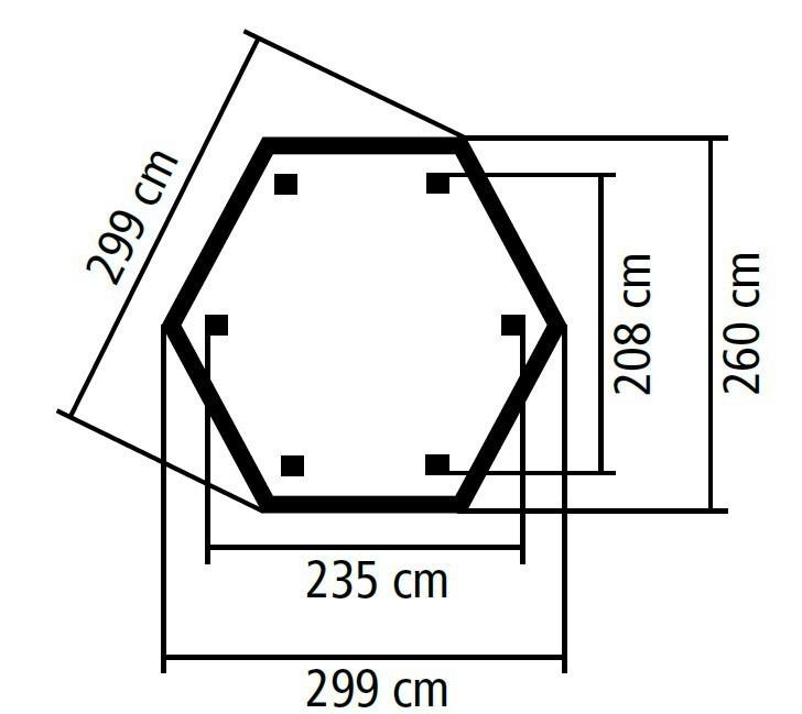Karibu Gartenlaube Lissabon 299x260cm kdi SPARSET mit Schindeln Bild 3