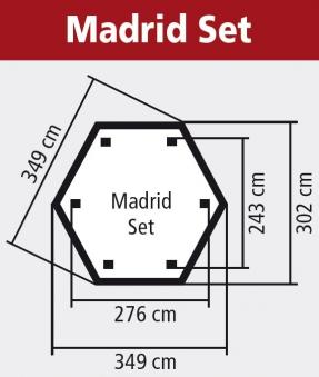 Karibu Gartenlaube Madrid kdi 349x302cm Set Bild 2