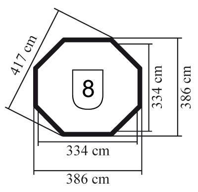 Karibu Gartenlaube Roma 2 natur 386x386cm Bild 2
