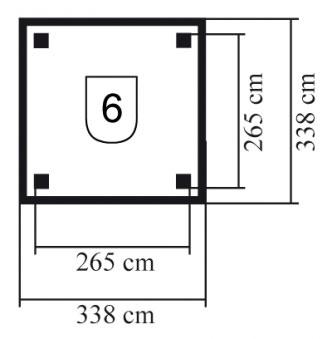 Karibu Holzpavillon Bergen 1 Set kdi 338x338cm Bild 2