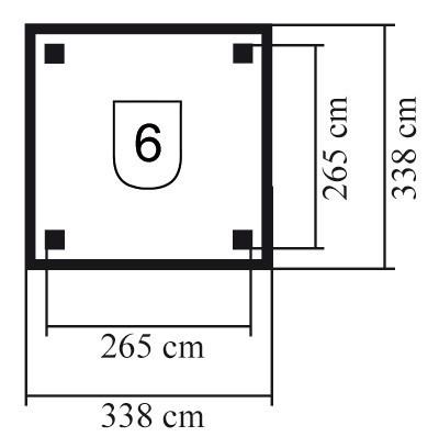 Karibu Holzpavillon Bergen 1 kdi 338x338cm Bild 2