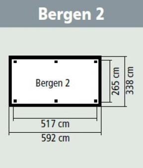 Karibu Holzpavillon Bergen 2 Set kdi 338x592cm Bild 2