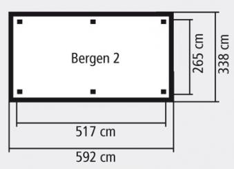 Karibu Holzpavillon Bergen 2 kdi 592x338cm Bild 2