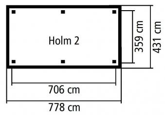 Karibu Holzpavillon & Carport Holm 2 kdi 778x431cm SPARSET Schindeln Bild 2