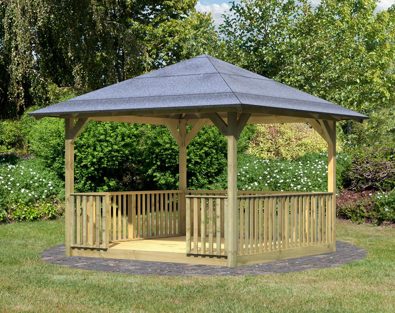 Karibu Holzpavillon Cordoba Set kdi 357x357cm Bild 1