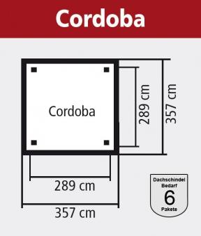 Karibu Holzpavillon Cordoba Set kdi 357x357cm Bild 2