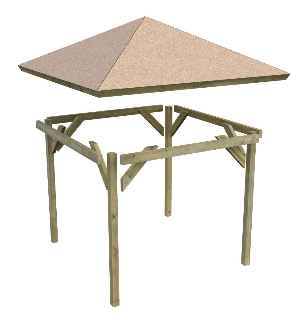 karibu holzpavillon granada kdi 377x377cm bei. Black Bedroom Furniture Sets. Home Design Ideas
