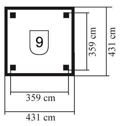 Karibu Holzpavillon Holm 1 kdi 431x431cm Bild 2