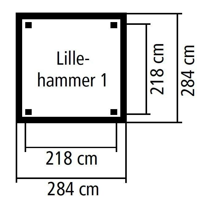Karibu Holzpavillon Lillehammer 1 kdi 284x284cm SPARSET mit Schindeln Bild 2