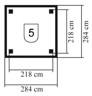 Karibu Holzpavillon Lillehammer 1 kdi 284x284cm Bild 2